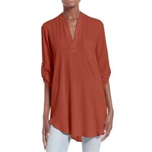 Lush - Roll Tab Sleeve Blouse / Tunic - Worn once!
